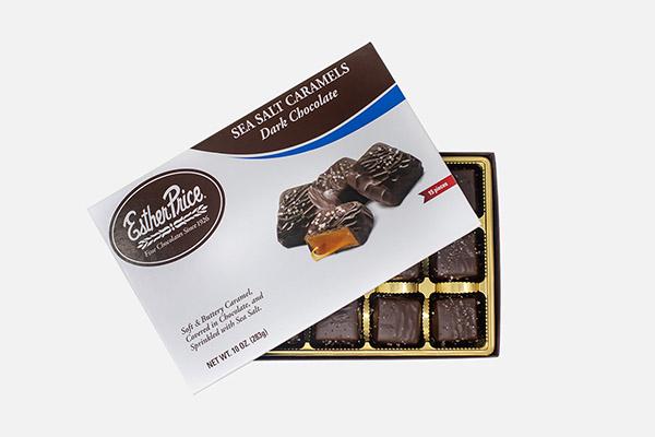 Esther Price dark chocolate sea salt caramels