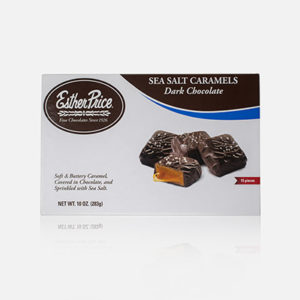 Esther Price dark chocolate sea salt caramels